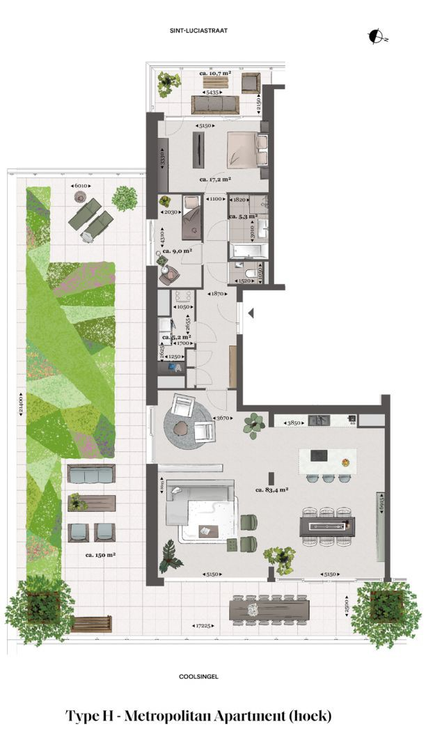 Floor plan type h Type H - Metropolitan apartment N� 75 coolsingel