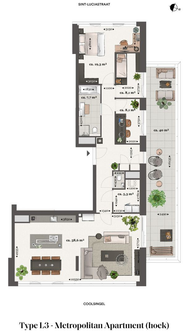 Floor plan type l3 Type L3 - Metropolitan apartment N� 75 coolsingel