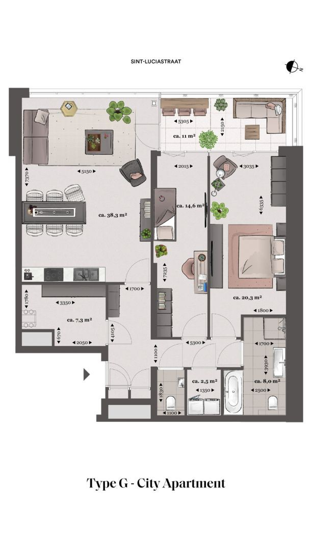 Floor plan type g Type G - City apartment N� 75 coolsingel