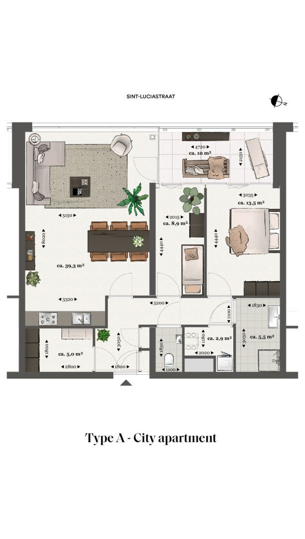 Floor plan type a Type A - City apartment N� 75 coolsingel